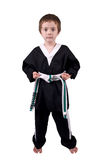 Boy Wearing Karate Outfit Stock Images