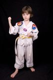 Boy Wearing martial arts Outfit Royalty Free Stock Image