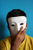 Boy wearing a mask. Boy having fun with a mask Stock Photos