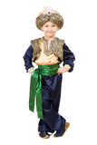 Boy wearing oriental costume.  Isolated Royalty Free Stock Image