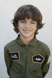 Boy Wearing Pilot's Jacket Stock Image