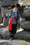 Boy wearing pirate costume Stock Image