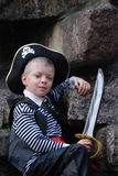 Boy wearing pirate costume Royalty Free Stock Photography