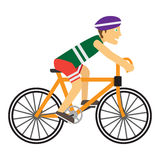 Boy Wearing Protective Helmet While Riding a Bike Royalty Free Stock Images