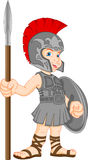 Boy wearing roman soldier costume Stock Image