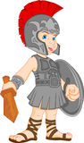Boy wearing roman soldier costume Royalty Free Stock Photography