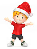 Boy wearing santa hat Stock Photos