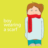 Boy wearing a scarf Royalty Free Stock Photo