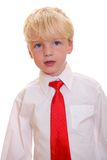 Boy wearing a tie Stock Images