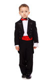 Boy wearing tuxedo Stock Images