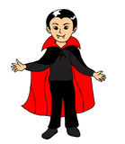 Boy wearing vampire Halloween costume Stock Image
