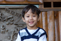 Boy wearing a vest. At home Royalty Free Stock Image