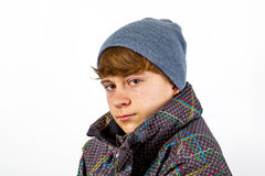Boy wearing winter clothes Stock Photo