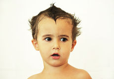 Boy with wet hair Royalty Free Stock Image