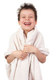 Boy with wet hair Royalty Free Stock Images