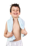 Boy with wet hair Stock Images
