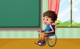 Boy on wheelchair Stock Photos