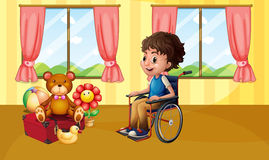 Boy in wheelchair Royalty Free Stock Photo