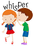 Boy whispering to the girl Royalty Free Stock Photography