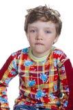 Boy on white background Royalty Free Stock Images