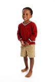Boy On White Background Royalty Free Stock Photography