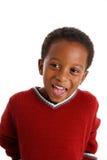 Boy On White Background Stock Photography
