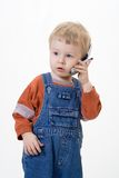Boy on white background Stock Images