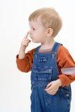 Boy on white background Royalty Free Stock Image