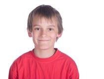 Boy on white background royalty free stock photo