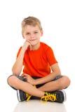 Boy white background Stock Photo