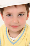Boy in White Kangol Stock Photo