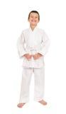 Boy in white kimono Stock Photography