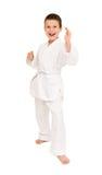 Boy in white kimono Royalty Free Stock Photography