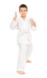 Boy in white kimono Stock Photos