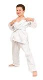 Boy in white kimono Royalty Free Stock Image