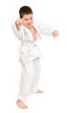 Boy in white kimono Royalty Free Stock Images