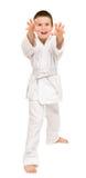 Boy in white kimono Royalty Free Stock Photos