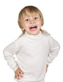 Boy in white Royalty Free Stock Photography