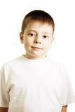 Boy in white shirt Stock Photography