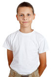 Boy in a white shirt Stock Photo