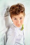 Boy in white shirt Stock Image