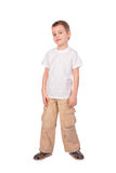 Boy in white shirt posing Royalty Free Stock Images