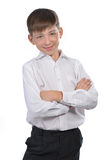 Boy in white shirt Royalty Free Stock Photos