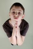Boy who prays Royalty Free Stock Image