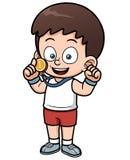 Boy winner Royalty Free Stock Image