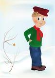 The boy winter Stock Photo