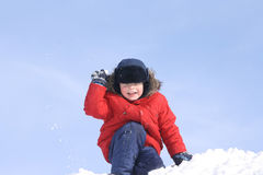 The boy, in the winter Royalty Free Stock Image