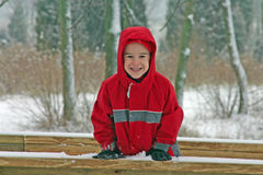 Boy in the Winter Royalty Free Stock Images