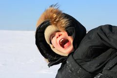 Boy in winter Royalty Free Stock Images