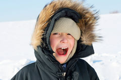 Boy in the Winter Royalty Free Stock Photo